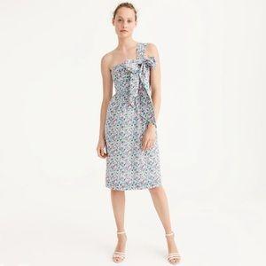 NWT J Crew One-Shoulder Tie Dress in Liberty Print